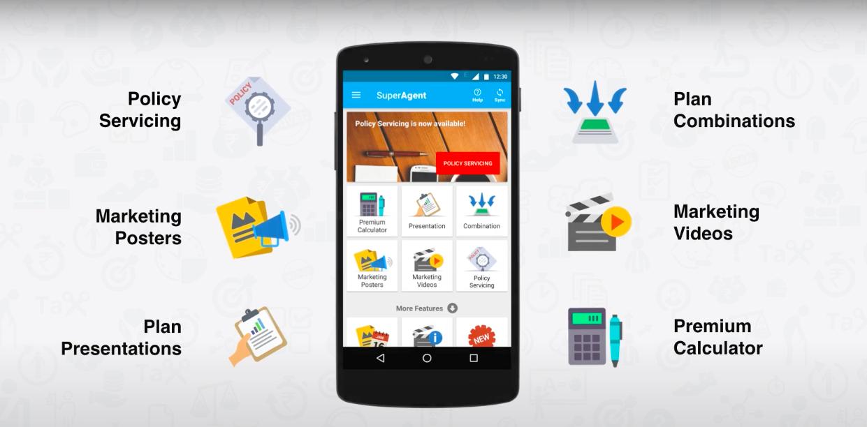 insurance agent app - features